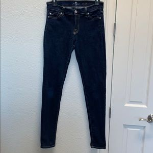 7 for all mankind The Skinny dark wash size 28